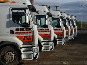 Biker group haulage vehicle fleet