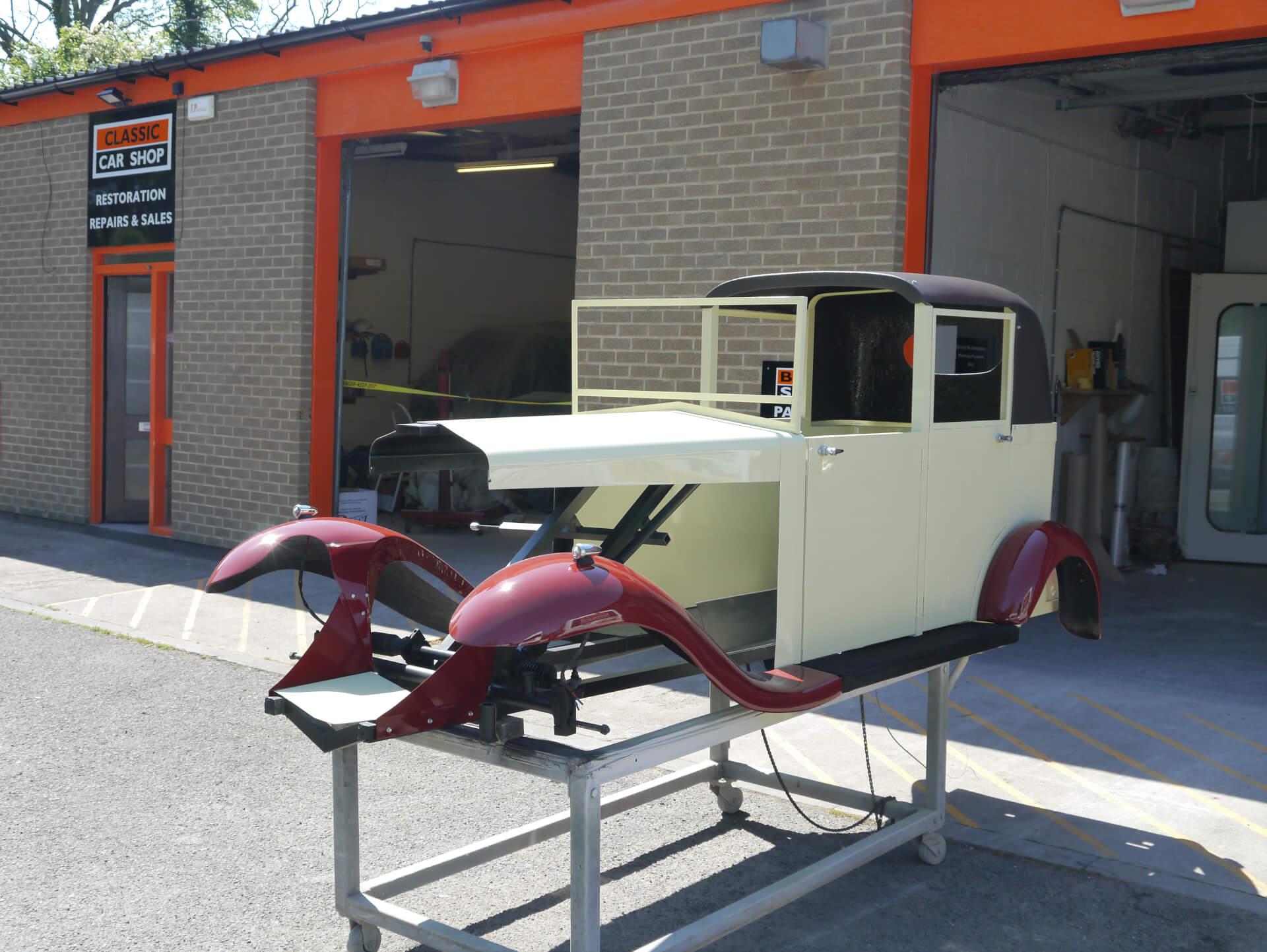 Bugsy Malone classic car Biker Body Shop